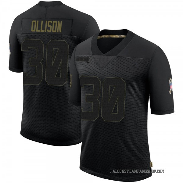 Youth Qadree Ollison Atlanta Falcons Limited Black 2020 Salute To Service Jersey
